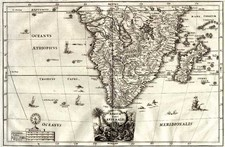 Africa and South Africa Map By Heinrich Scherer