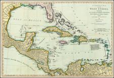 Florida and Caribbean Map By Samuel Dunn
