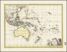 Australia and Oceania Map By Conrad Malte-Brun