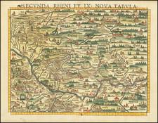 France, Nord et Nord-Est and Mitteldeutschland Map By Sebastian Munster
