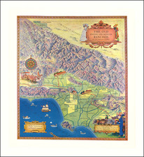 Pictorial Maps and Los Angeles Map By Title Insurance & Trust Company / Gerald  Allen Eddy