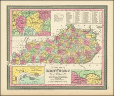 Kentucky Map By Thomas, Cowperthwait & Co.