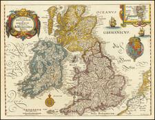 British Isles Map By Matthaus Merian