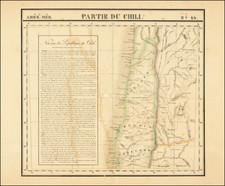 Chile Map By Philippe Marie Vandermaelen