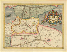 Turkey & Asia Minor and Russia in Asia Map By  Gerard Mercator