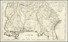 A Map of Georgia, also the Two Floridas, from the Best Authorities By Jedidiah Morse