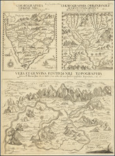 Africa, Egypt, North Africa, South Africa, East Africa and West Africa Map By Athanasius Kircher