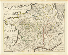 France and Curiosities Map By Nicolas Sanson