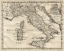 Europe and Italy Map By Thomas Jefferys