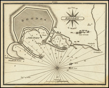 Greece Map By William Heather