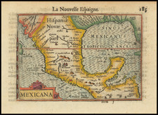 Mexico and Central America Map By Barent Langenes