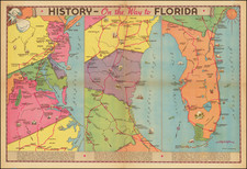 Mid-Atlantic, Florida and Pictorial Maps Map By Edwin L. Sundberg