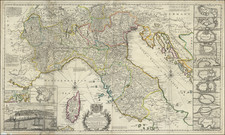 Northern Italy and Corsica Map By Herman Moll