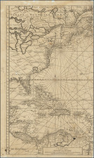 Atlantic Ocean, United States, New England, Mid-Atlantic, Southeast, North America, Caribbean and Canada Map By Gerard Van Keulen