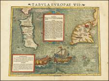 Malta, Sardinia and Sicily Map By Sebastian Munster