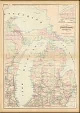 Michigan Map By Asher  &  Adams