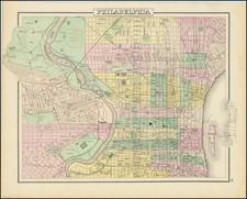 Philadelphia Map By O.W. Gray