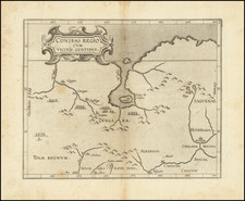 Midwest, Plains, Rocky Mountains and Canada Map By Cornelis van Wytfliet