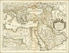 Turkey, Middle East, Arabian Peninsula, Turkey & Asia Minor, Egypt and North Africa Map By Giacomo Giovanni Rossi - Giacomo Cantelli da Vignola