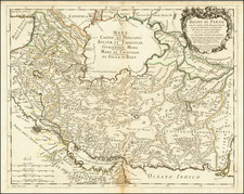 Middle East and Persia & Iraq Map By Giacomo Giovanni Rossi - Giacomo Cantelli da Vignola