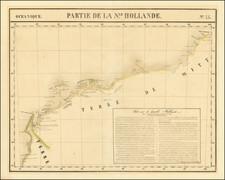 Australia Map By Philippe Marie Vandermaelen