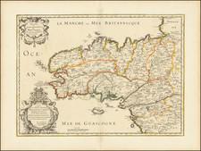 Bretagne Map By Nicolas Sanson