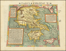 Turkey and Greece Map By Sebastian Munster