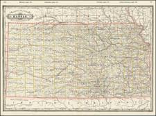 Kansas Map By George F. Cram
