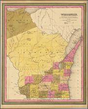 Wisconsin Map By Samuel Augustus Mitchell
