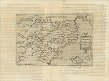 Spain and Balearic Islands Map By Johannes Matalius Metellus