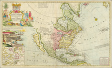 North America and California as an Island Map By Herman Moll