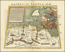 Malta, Sicily and North Africa Map By Sebastian Munster