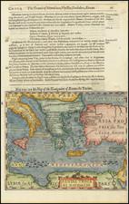 Mediterranean, Balearic Islands and Greece Map By Jodocus Hondius / Samuel Purchas