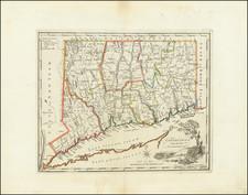 Connecticut Map By Mathew Carey