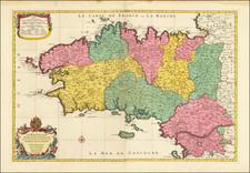 Bretagne Map By Nicolas Sanson / Pierre Mortier