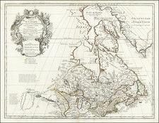 New England, Midwest, Plains and Canada Map By Guillaume De L'Isle / Jean-Claude Dezauche