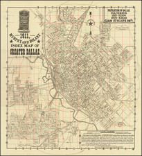 Texas Map By J. P. Murphy  &  Charles F. Bolanz
