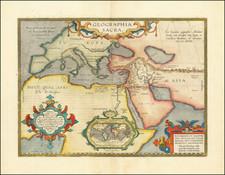 Geographia Sacra (Modern World Map Inset) By Abraham Ortelius