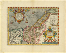 Holy Land Map By Abraham Ortelius