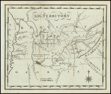 S.W. Territory (Tennessee, Kentucky, Alabama, Mississippi, Georgia, etc.) By Joseph Scott