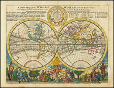 World Map By Herman Moll