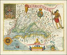 Virginia Map By John Smith