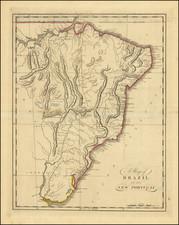 Brazil Map By Mathew Carey