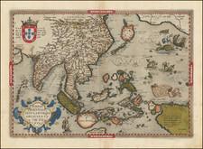 Indiae Orientalis Insularumque Adiacientium Typus By Abraham Ortelius