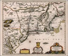 New England, Mid-Atlantic and Canada Map By Peter Schenk  &  Gerard Valk