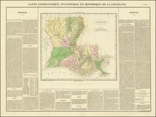 Carte Geographique, Statistique Et Historique De La Louisiane By Jean Alexandre Buchon