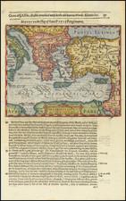 Mediterranean, Holy Land, Turkey & Asia Minor and Greece Map By Jodocus Hondius / Samuel Purchas
