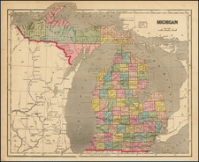 Michigan Map By Charles Morse