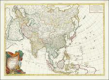 Asia Map By Paolo Santini / Giovanni Antonio Remondini