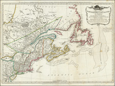 New England, New York State and Eastern Canada Map By Robert Sayer  &  John Bennett